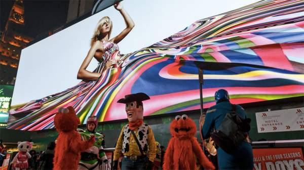 Pantalla digital gigante de Times Square