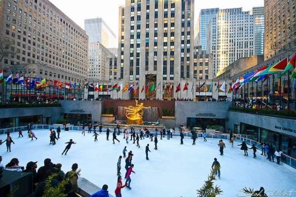 Una de las mejores pistas de patinaje sobre hielo en Nueva York