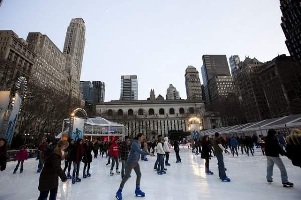 5 pistas de patinaje sobre hielo en Nueva York
