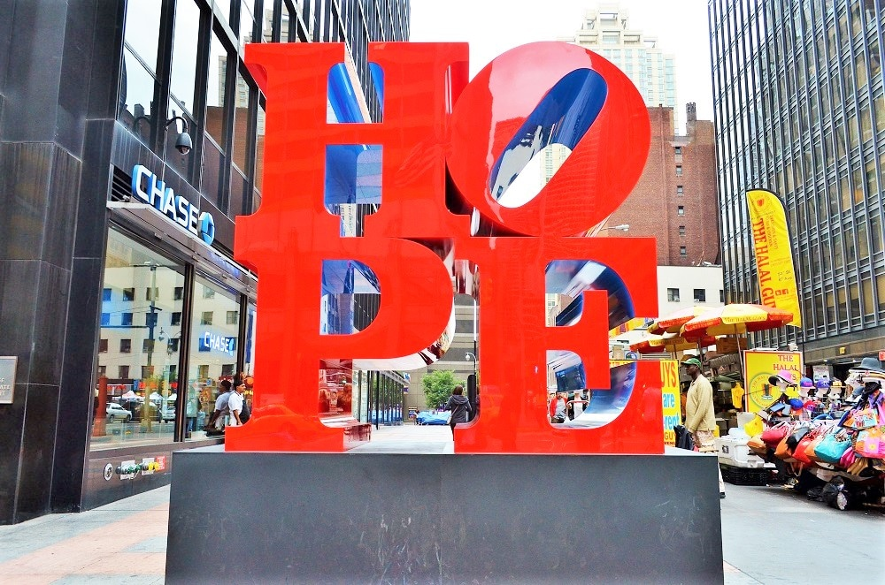 Escultura Hope en New York
