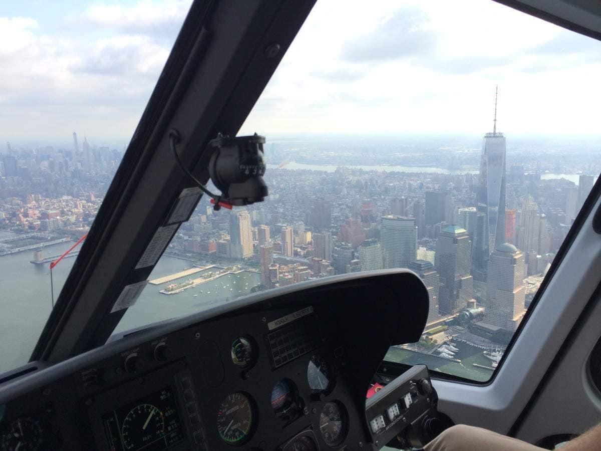 Helicóptero en Nueva York - ©VoyaNYC