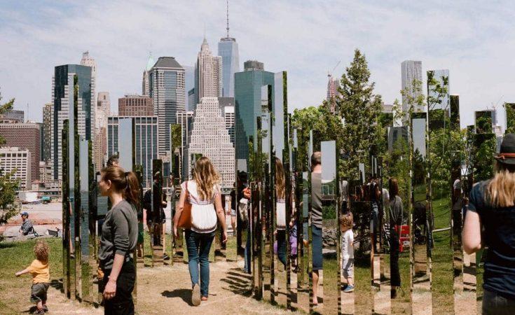 Brooklyn Bridge Park - Mirror Labyrinth - Shawn Hoke