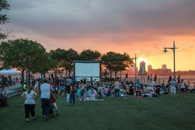 Cine al aire libre en NewYork