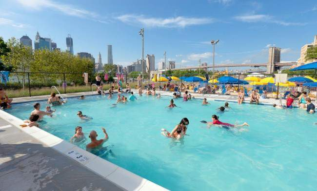 piscinas gratis en New York