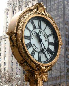 Golden Clock Madison Square