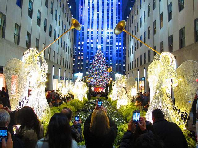 Ceremonia de encendido de luces Rockefeller Center