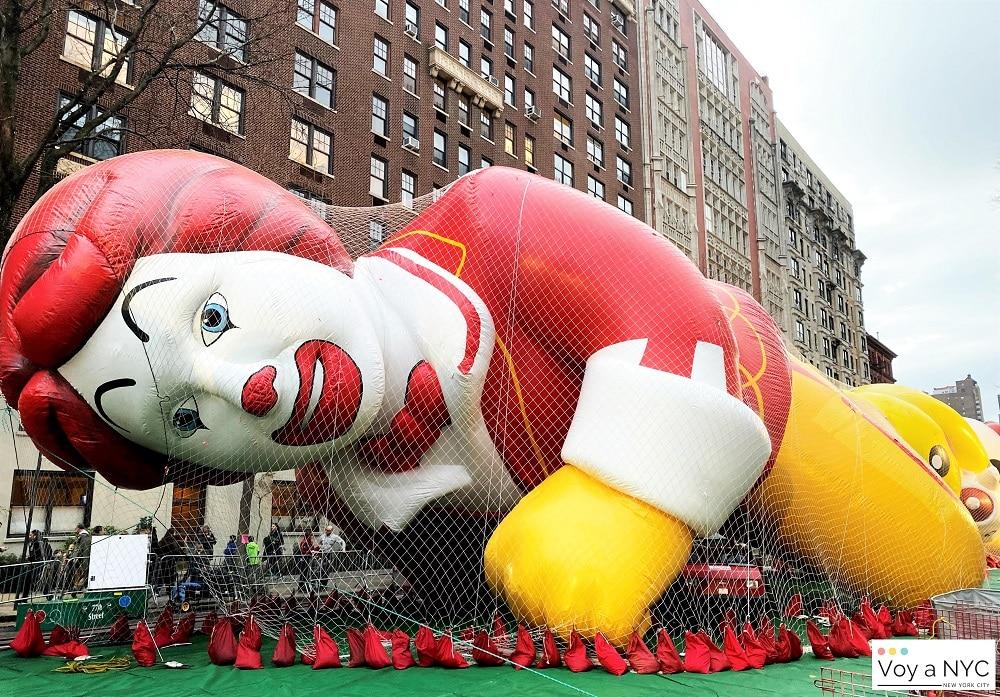 Globos del desfile de Acción de Gracias