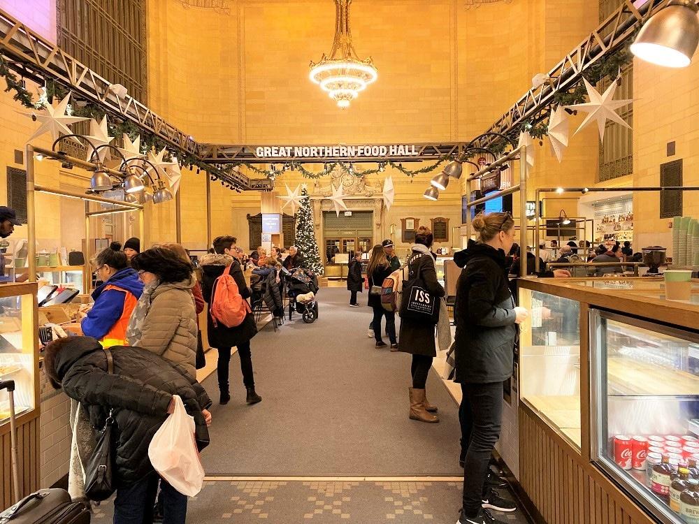 Comer en la Grand Central de Nueva York