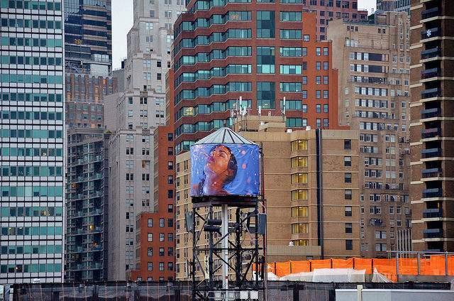 Nueva York depósitos de agua en tejados