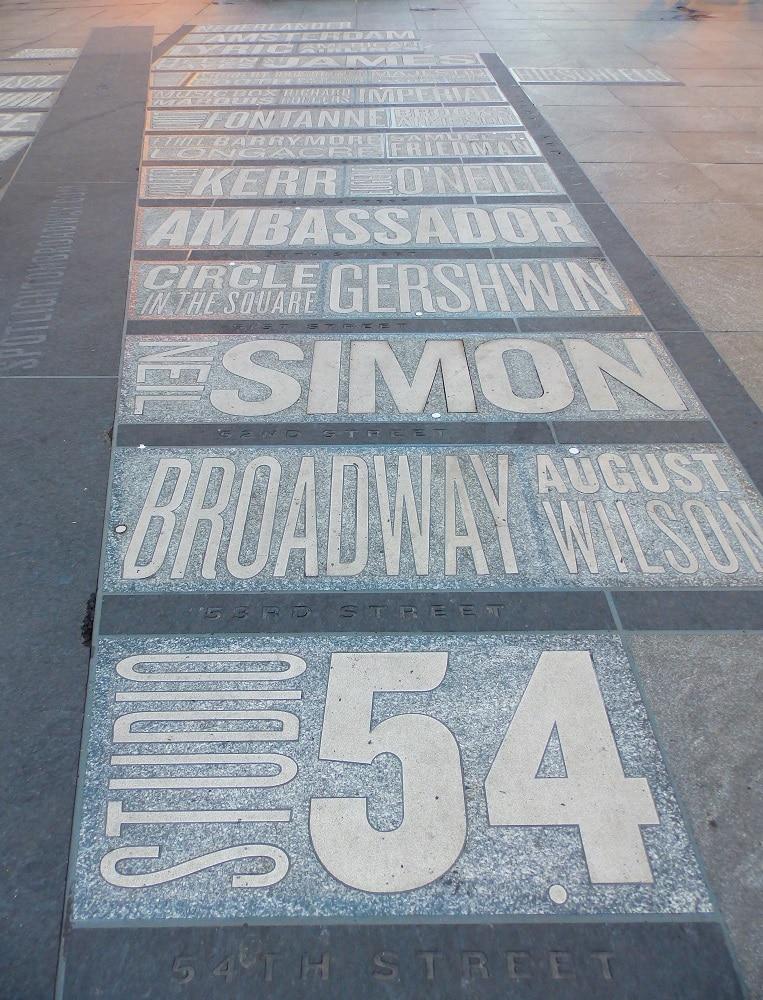 Mapa Theatre District Broadway