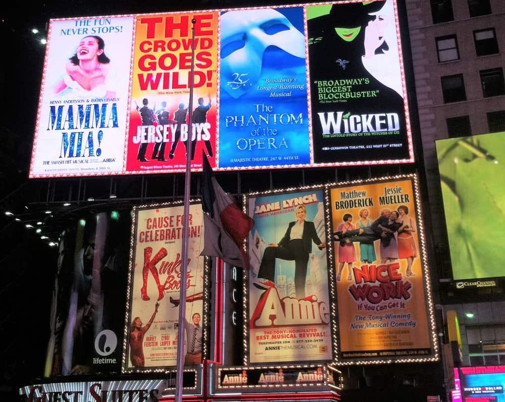 Musicales Broadway en Nueva York
