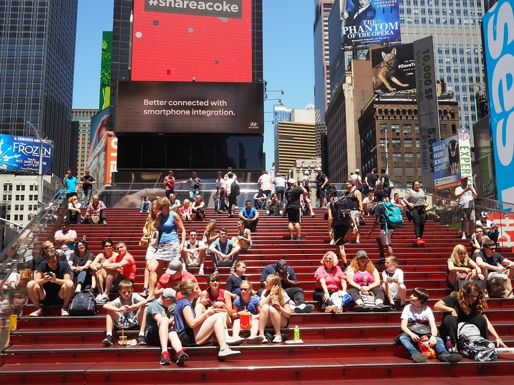 Red Stairs en Times Square