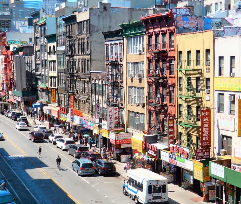 Chinatown desde el Manhattan Bridge
