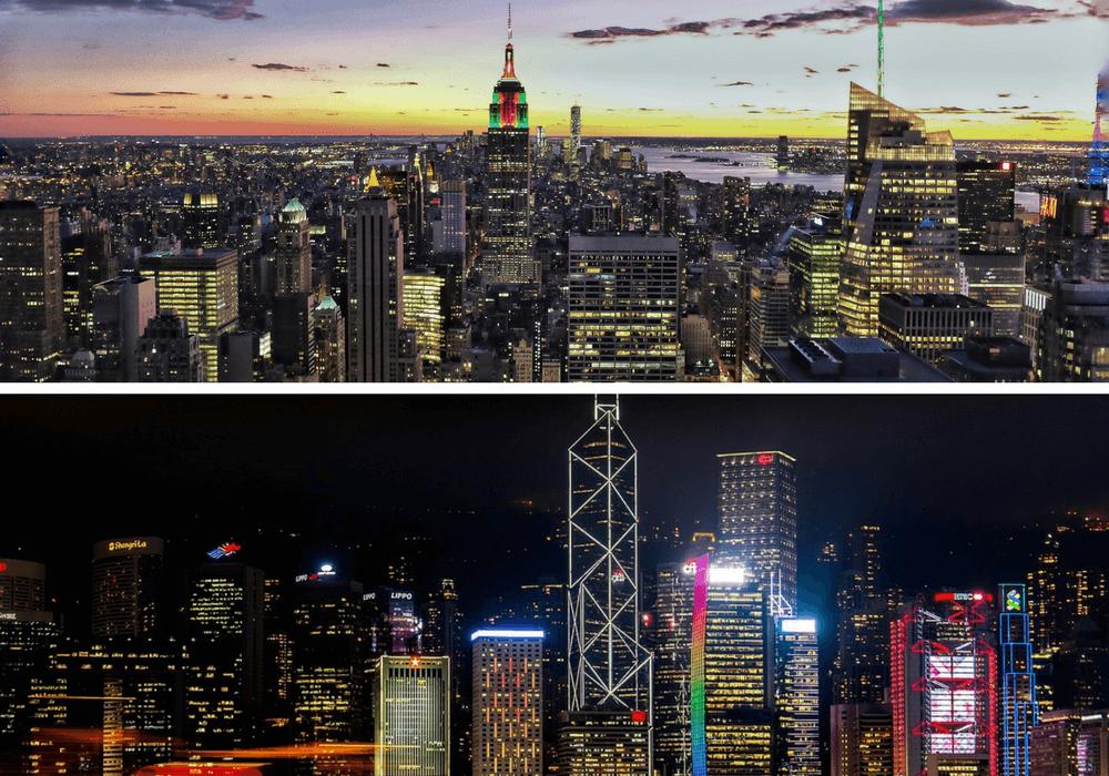 Nueva York vs Hong Kong