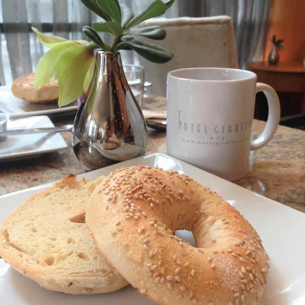 Desayunar Bagels en Nueva York