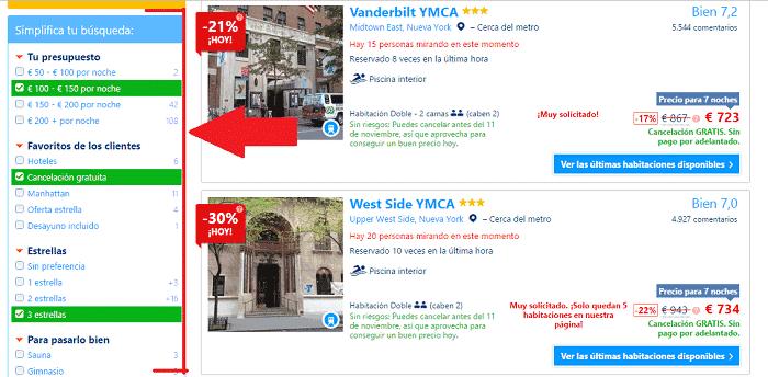 hotel barato Nueva York