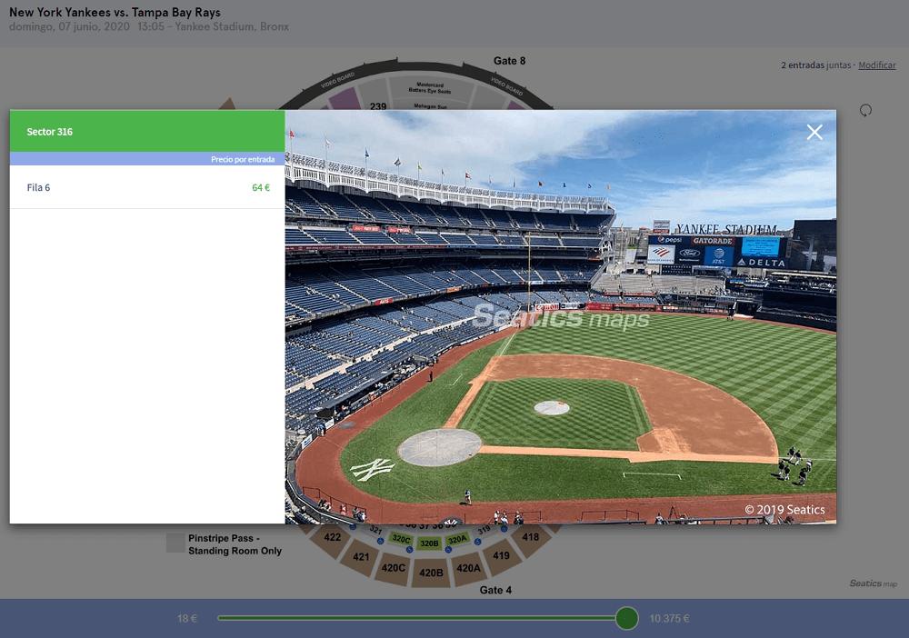 Comprar entrada partido baseball en Nueva York