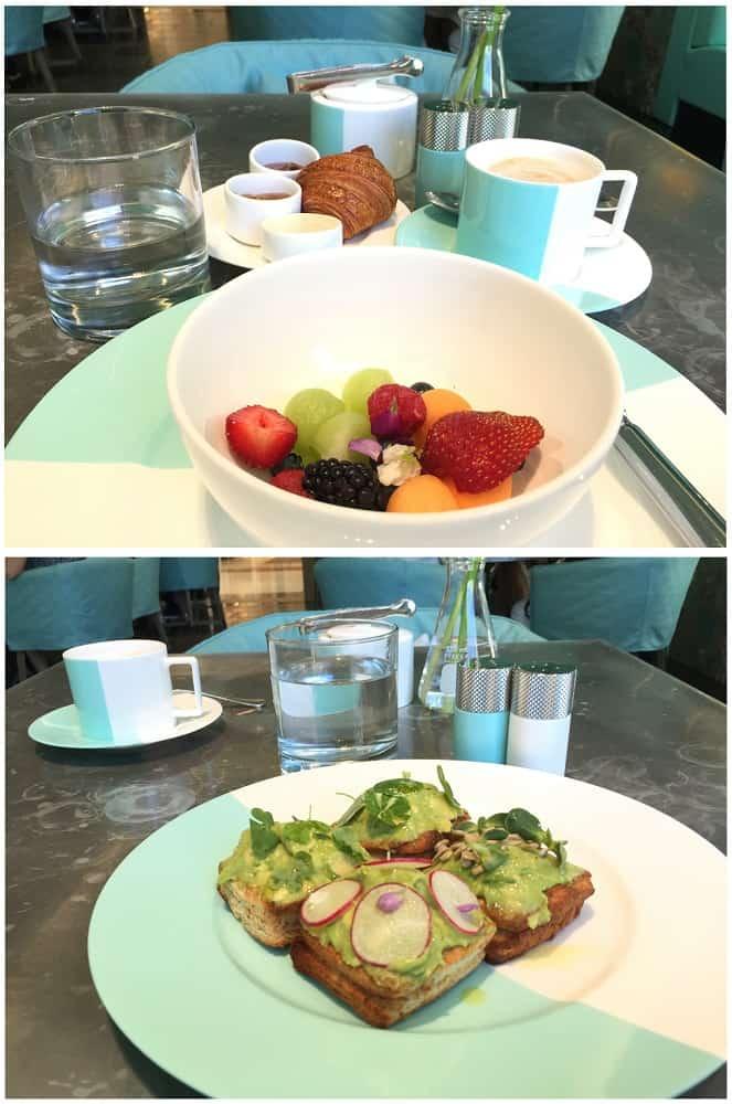 Comer en Tiffany's Nueva York