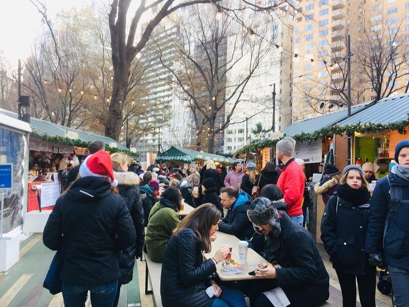 Mercadillos Navidad Nueva York