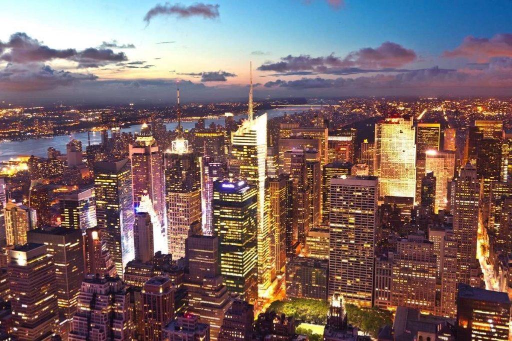 Vistas de Nueva York de Noche