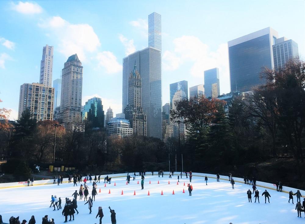 Patinar en invierno en Nueva York