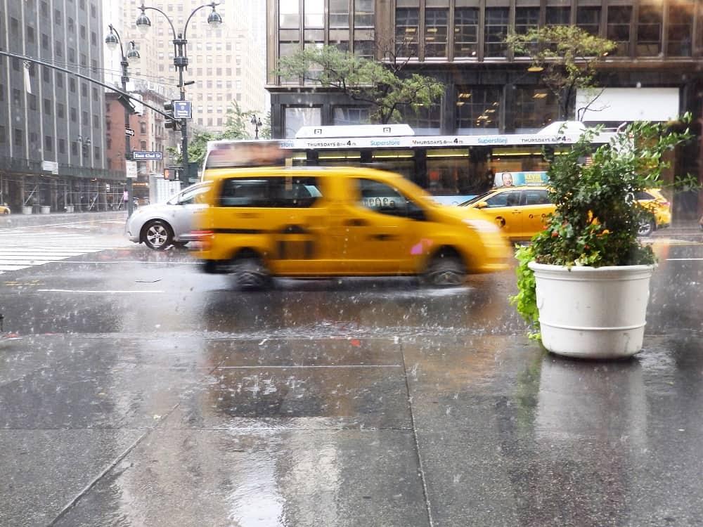 Lluvia Nueva York