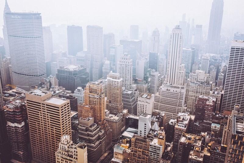 Humo Calles Nueva York