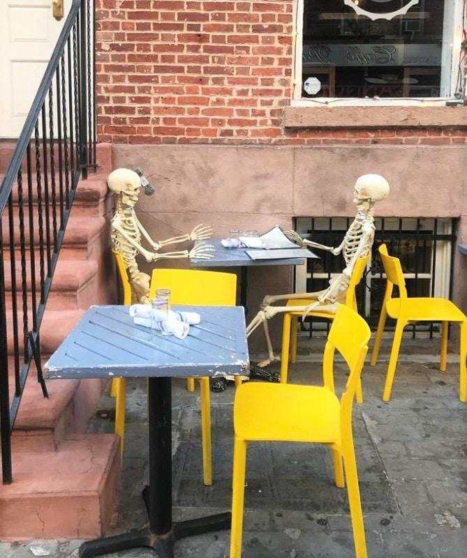 Decoraciones de Halloween en Nueva York