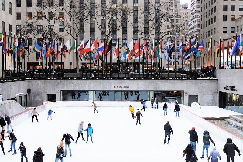 Pista de Patinaje del Rockefeller Center en NYC