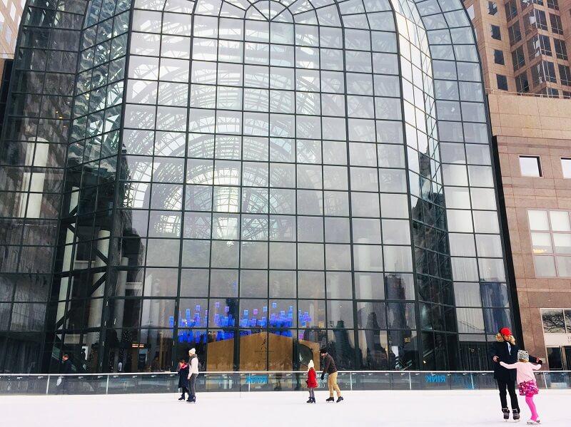 Pista de Patinaje sobre hielo en Nueva York