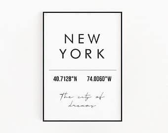 Lámina Coordenadas New York