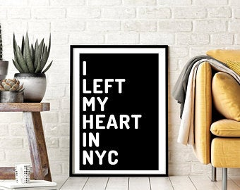 Poster I left My heart in New York