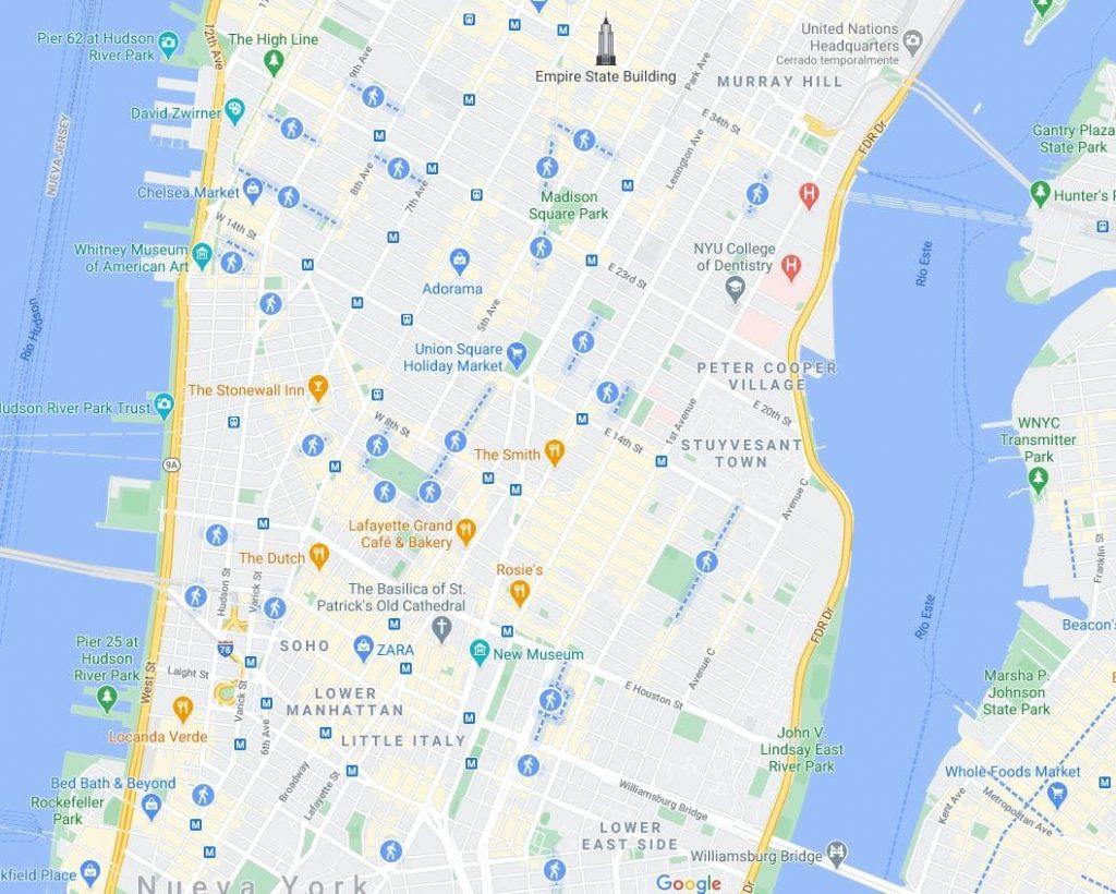 Calles Peatonales Nueva York