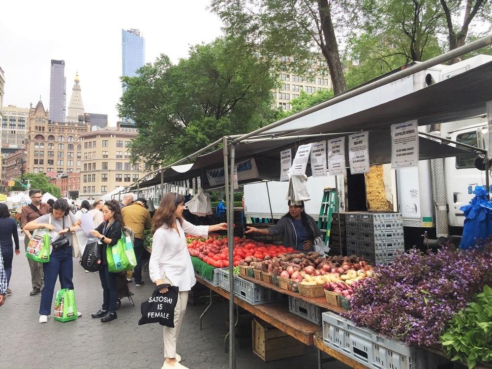 Mercado en Union Square
