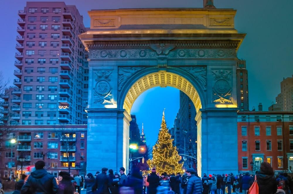 Navidad Washington Square Nueva York
