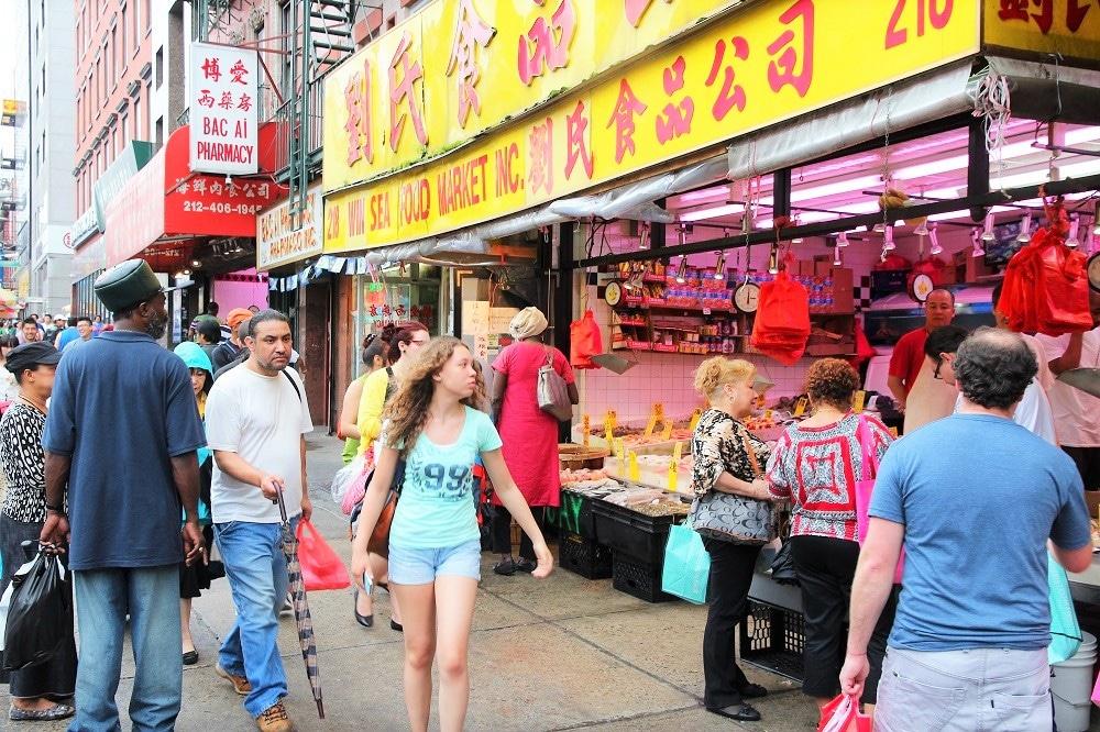 Comercios en Chinatown en Manhattan