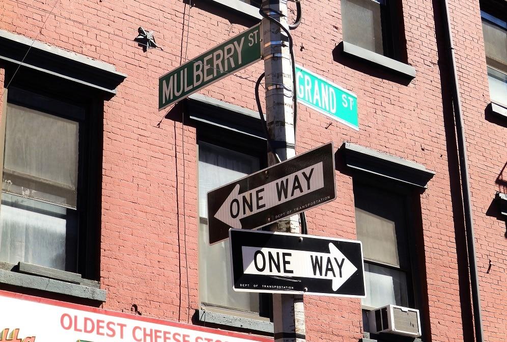 Calles de la pequeña Italia en Nueva York